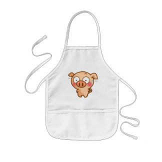 Guilty Piggy In Headlights Kids' Apron