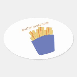 Guilty Pleasures Oval Sticker