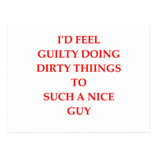 GUILTY POSTCARD