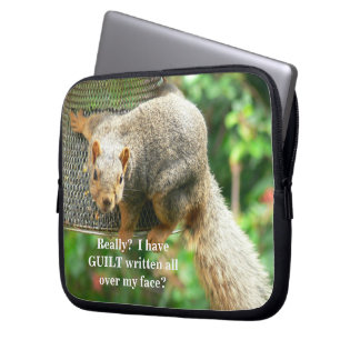 """Guilty Squirrel"" 10"" Neoprene Sleeve for Laptop"