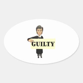 Guilty Oval Sticker