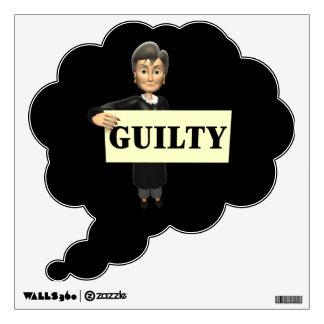 Guilty Wall Sticker