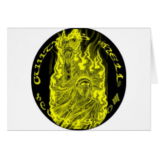 GUILTYASHELLrecords-Liberty Statue w/Gas Mask Logo Card