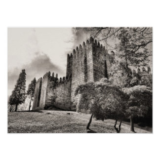 Guimaraes Castle in Portugal Print