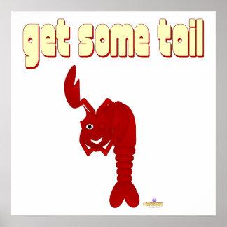 Guiñando la langosta roja consiga un poco de cola póster