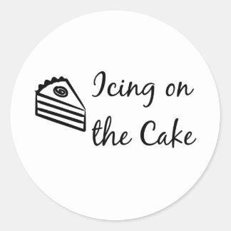 Guinda del pastel pegatinas redondas