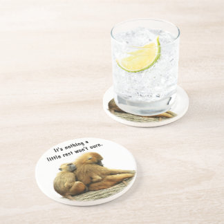 Guinea Baboons Drink Coaster