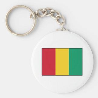 Guinea - bandera guineana llavero redondo tipo pin