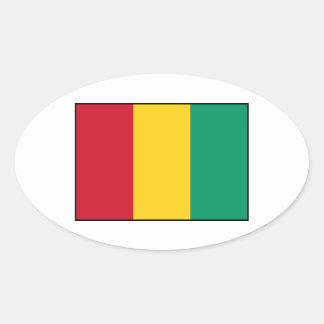 Guinea - bandera guineana pegatina ovalada