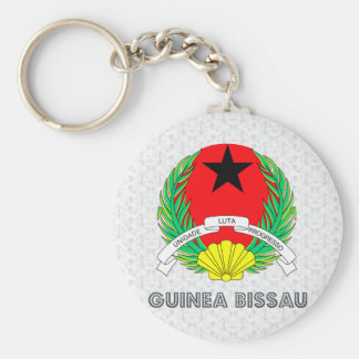 Guinea Bissau Coat of Arms Basic Round Button Keychain