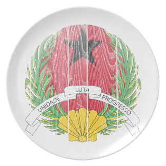 Guinea Bissau Coat Of Arms Dinner Plate