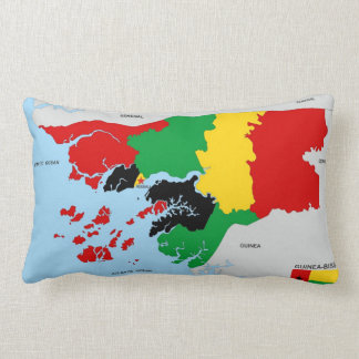 guinea bissau country political map flag pillow