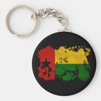 Guinea Bissau Flag Basic Round Button Keychain