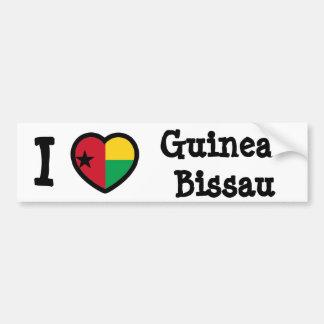 Guinea-Bissau Flag Car Bumper Sticker