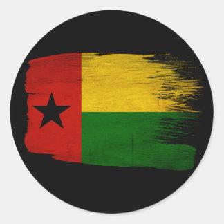 Guinea Bissau Flag Classic Round Sticker