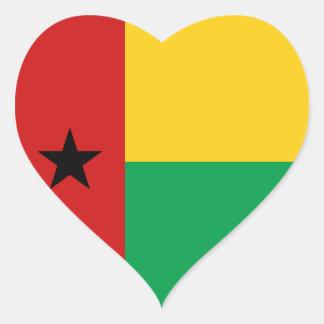 Guinea-Bissau Flag Heart Sticker
