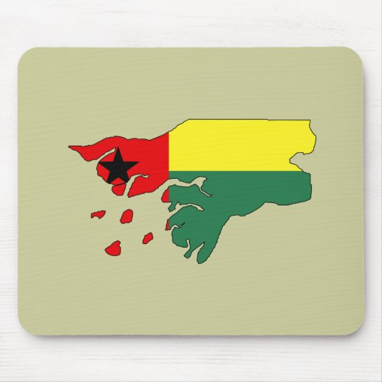 Guinea bissau flag map mouse pad