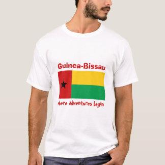 Guinea-Bissau Flag + Map + Text T-Shirt