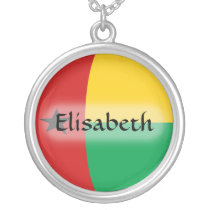 Guinea-Bissau Flag   Name Necklace
