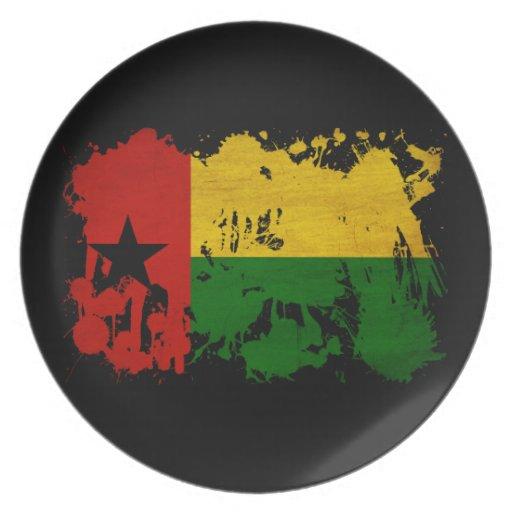 Guinea Bissau Flag Plates