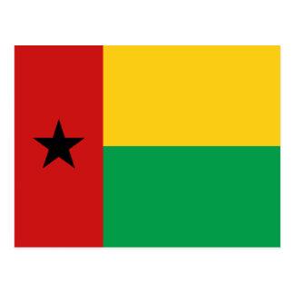 Guinea-Bissau Flag Postcard