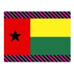 Guinea Bissau Flag Postcard