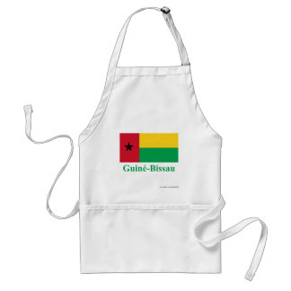 Guinea-Bissau Flag with Name in Portuguese Aprons