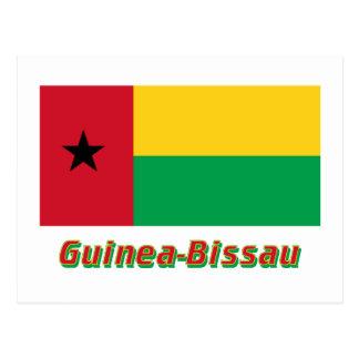 Guinea-Bissau Flag with Name Postcard