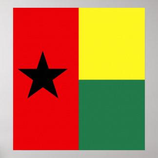 Guinea Bissau High quality Flag Poster