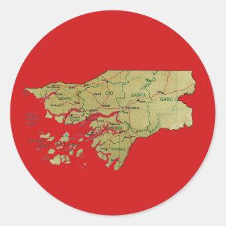 Guinea-Bissau Map Sticker