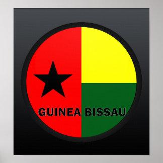 Guinea Bissau Roundel quality Flag Poster