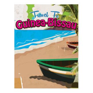 Guinea-Bissau vintage travel poster Postcard