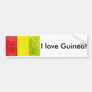 Guinea bumper sticker car bumper sticker