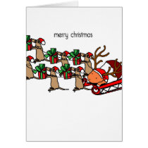 Guinea Claus and the mice deer Card