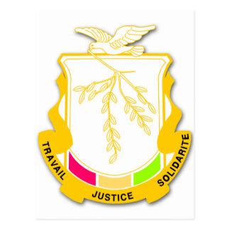 Guinea Coat of arms GN Postcard