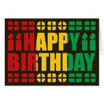 Guinea-Conakry Flag Birthday Card