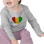 Guinea-Conakry Flag Heart T-Shirt
