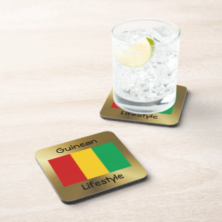 Guinea-Conakry Flag+Text Coaster