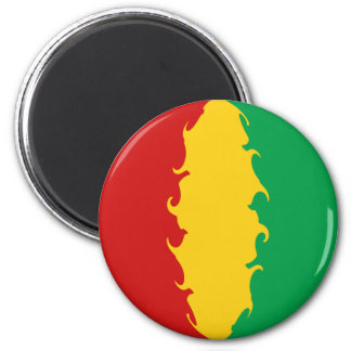 Guinea Conakry Gnarly Flag 2 Inch Round Magnet
