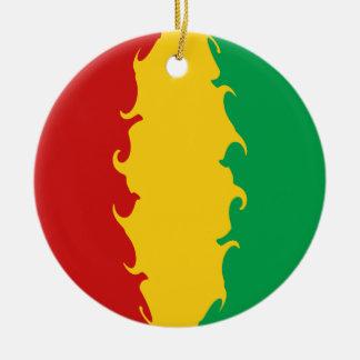 Guinea Conakry Gnarly Flag Ceramic Ornament