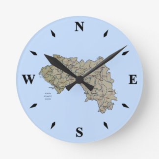 Guinea-Conakry Map Clock