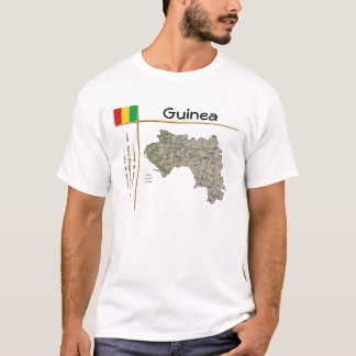 Guinea-Conakry Map + Flag + Title T-Shirt