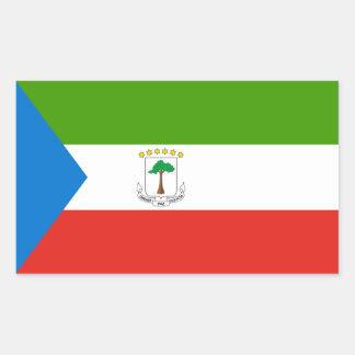 Guinea Ecuatorial/bandera guineana Pegatina Rectangular