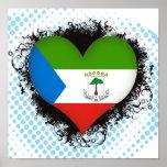 Guinea Ecuatorial del amor del vintage I Impresiones