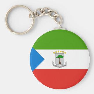 Guinea Ecuatorial Llavero Redondo Tipo Pin