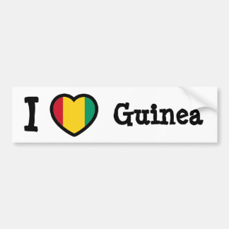 Guinea Flag Car Bumper Sticker