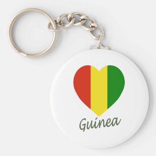 Guinea Flag Heart Keychain