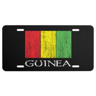 Guinea Flag License Plate