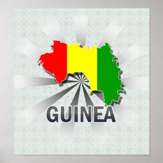 Guinea Flag Map 2.0 Print
