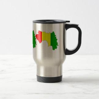 Guinea Flag Map full size Travel Mug